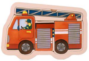 €4,25 Mamamemo houten puzzel brandweer brandweerwagen brandweerauto hout