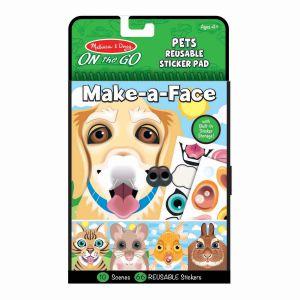 Melissa & Doug herbruikbare stickers Make a Face dieren reusable pets