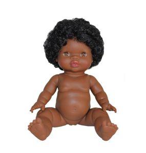 €24,89 Paola Reina pop Gordi donker meisje met krullend haar 34cm donkere meisjespop minikane