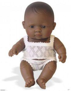 €19,99 Miniland pop Latijns Amerikaans donker meisje getint babypop donkere meisjespop 21 cm