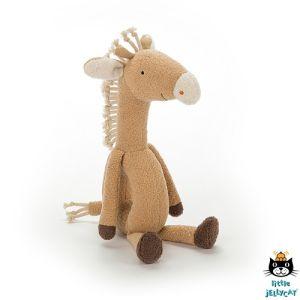 €14.95 Jellycat knuffel rammelaar giraf 27 cm (Rattlering Giraffe)