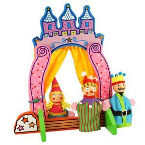 €11,49 Bigjigs houten vingerpop theater vingerpopjes vingerpopjes Finger Puppet Theatre