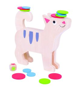 €12,49 Bigjigs houten stapel spel kat /  poes stapelspel stack a cat