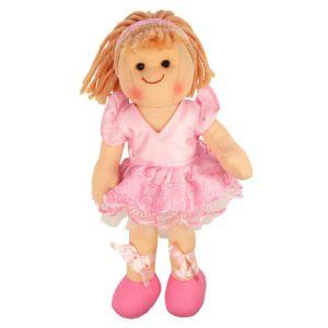 €11.19 Bigjigs stoffen pop stof lappen popje Ballerina Lily 28 cm Doll